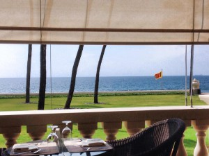 Galle Face Hotel verand lunch 6 januari